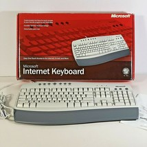 Microsoft C1900330 Wired Internet Keyboard Detachable Palm Rest Hot Keys access - $24.74