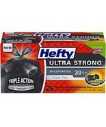 Hefty Ultra Strong Multipurpose Large Black Trash Bags - 30 Gallon, 25 C... - ₹680.98 INR