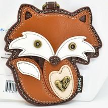 Chala Handbags Faux Leather Whimsical Red Fox Coin Purse Key Chain Keychain