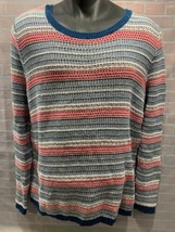 Tommy Hilfiger Blanc Rouge Bleu Pull Homme Taille XL - $31.17