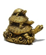Feng Shui Three Tiered Tortoise- finest quality polyresin-Free Shipping ... - $18.70