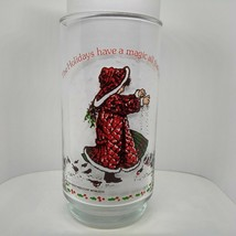 1981 Holly Hobbie Collectible Holiday American Greetings Coke Glass Tumbler - $4.90