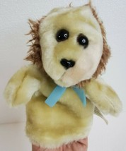"""Plush Hand Puppet Lion Animal Ideal For Small Hands Vintage Lillian Vernon 7x6"""" - $12.73"""