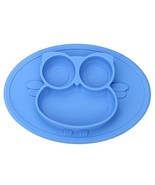 Kirecoo Baby Placemat Owl Round Silicone Suction Feeding Plate for Child... - $9.50