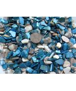 4oz Blue Ivory Crushed Seashells Mosaics Vase Filler Sea Shells Beach Cr... - $5.89