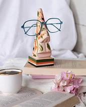 Floral Nose Eyeglass Holder, Wooden Hand-painted Spectacle Stand, Home Dcor & Ni - $15.83