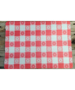 gingham disposable placemats cookout paper picnic table place mats summer party  - $3.95