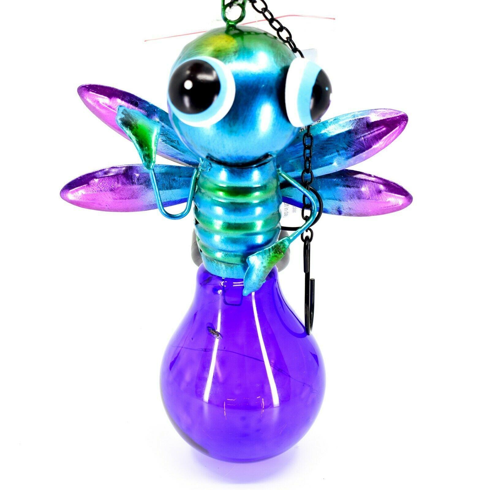 Regal Art & Gift Metal & Glass Firefly Hanging Solar Light Garden Decor