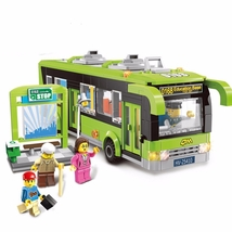 Bus Station Bus Vehicle Lego Minifigure Toys Set - $58.00