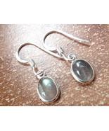 Small Labradorite Oval Ellipse 925 Sterling Silver Dangle Earrings New 760h - $11.87