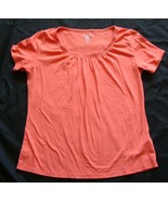 Riders By Lee  Instantly Slims You  orange short sleeve top size  L - $3.99