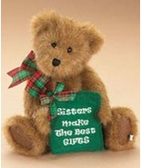 """BOYDS #914452 SISSY D. BEST 8.5"""" PLUSH BEAR """"SISTERS MAKE THE BEST GIFTS"""" - $15.00"""