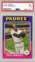 1975 Topps Dave Winfield #61 PSA 7 P691 - $22.71