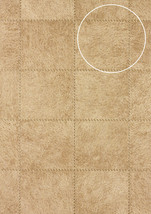 Atlas SKI-5067-3 Embossed wallpaper wall shimmering grey-beige 7.035 m2 - $128.03