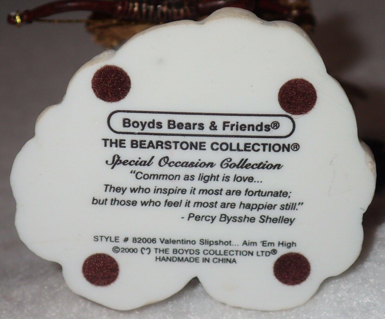 Boyd Bearstone Resin Bears Valentino Slipshot Aim 'Em High Figurine #82006 image 4