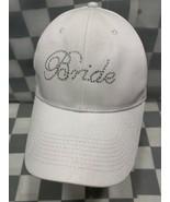 Sposa Ingioiellato Bianco Baseball Regolabile Adulto Cappello - $12.11