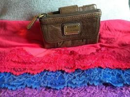 Handbag Fossil Emory Brown Multi-Function Tri-Fold Organizer Zip Snap Wa... - $94.15