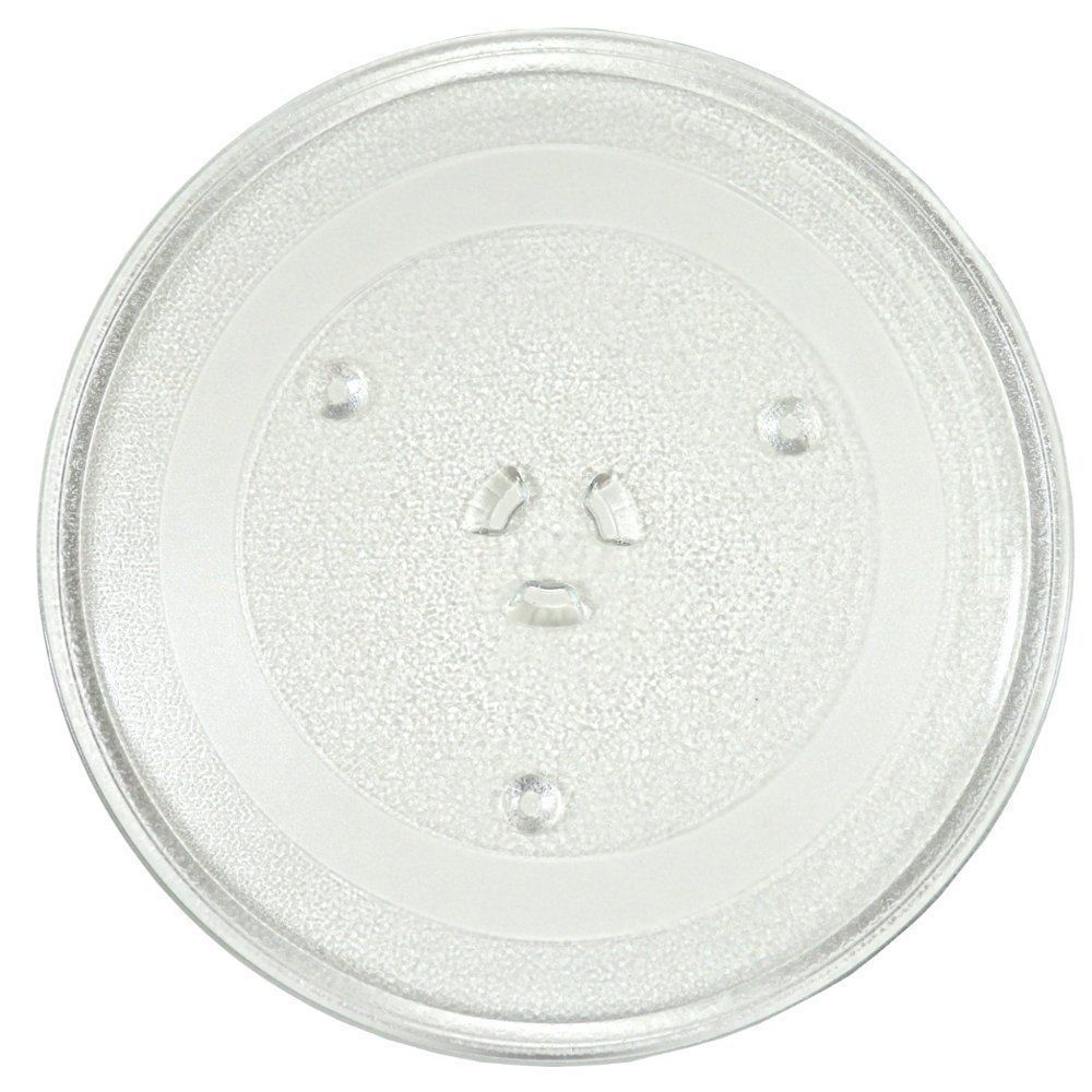 "Primary image for HQRP 11 1/4"" Glass Turntable Tray for GE WB49X10097 PS651544 Microwave Plate"