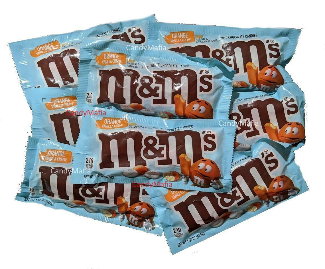 Orange Vanilla Cream M&Ms Flavored White Chocolate Creamsicle MMs 1.5oz 7 packs! - $20.97