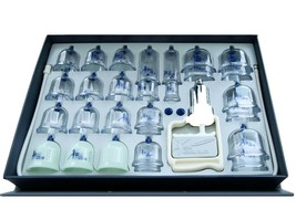 SeoulMedical Cupping Therapy Equipment 28 Cups Set with Pumping Handle and Hose image 1