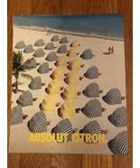 Absolut Citron Beach Umbrellas Original Magazine Ad - $1.49