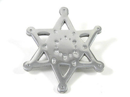 Large Silver tone Star Brooch Vintage Pin - $11.39