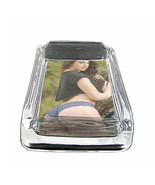 "Country Pin Up Girls D14 Glass Square Ashtray 4"" x 3"" Smoking Cigarette Bar - $12.82"