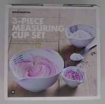 Woolworths 3 Piece Cooking Measuring Cup Set 100ml, 400ml, 1000ml Cerami... - $29.65