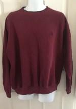Vintage Mens NAUTICA Maroon sweatshirt  XL pullover winter long sleeve Nautical  - $17.56
