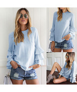 "Fashion Women""s Lady Summer Long Sleeve Loose Blouse Casual Shirt Tops S... - $36.00"