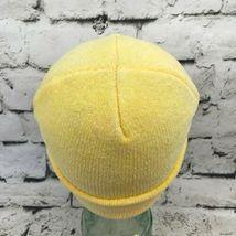Dorfman Pacific OSFA Hat Yellow Stretch Knit Soft Velour Roll-Up Beanie Warm Cap image 3