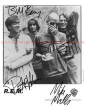 Rem Band Signed Autographed 8x10 Rp Promo Photo All 4 R.E.M. - $19.99