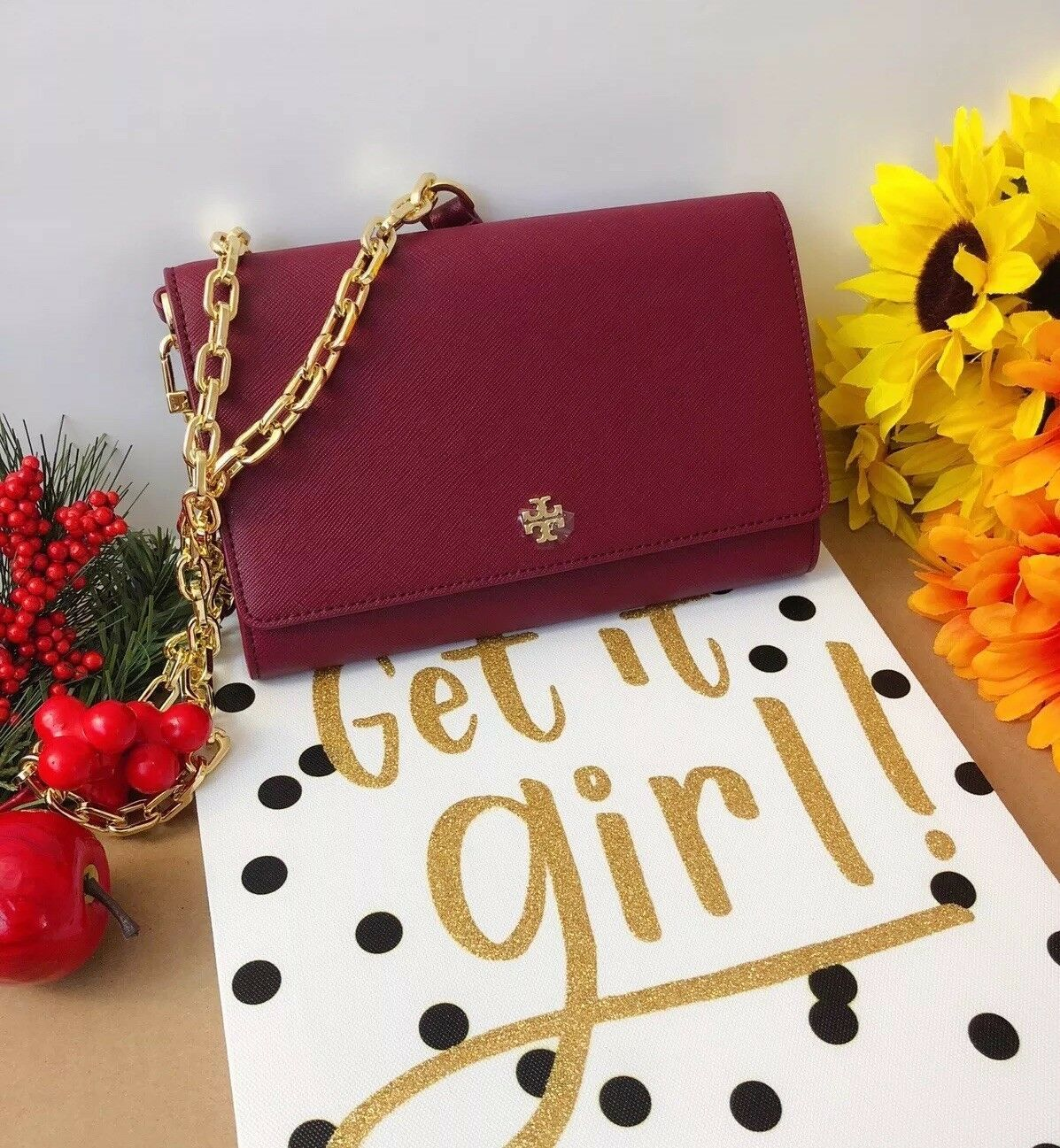 *New Arrival* Tory Burch Emerson Chain Wallet Crossbody Bag *FREE SHIPPING*