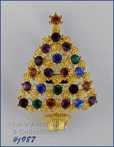 Eisenberg Ice Signed Christmas Tree Pin (Inventory #J987) - $52.52 CAD