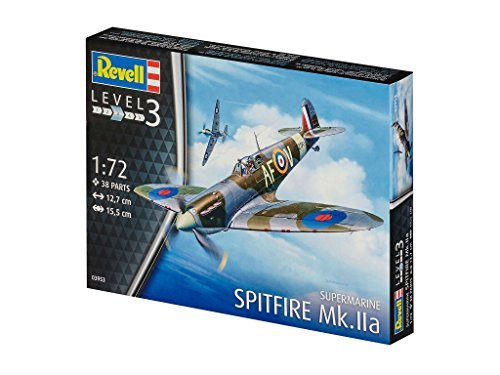 Revell Of Germany 1/72 The Royal Air Force Spitfire MK.IIa Plastic Model 03953