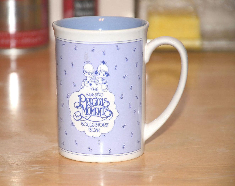 Precious moments Collectors Mug Coffee Cup purple - $2.96