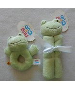 NEW Build A Bear Baby Green Frog Snuggler Blanket & Rattle Set - NWT - $24.99