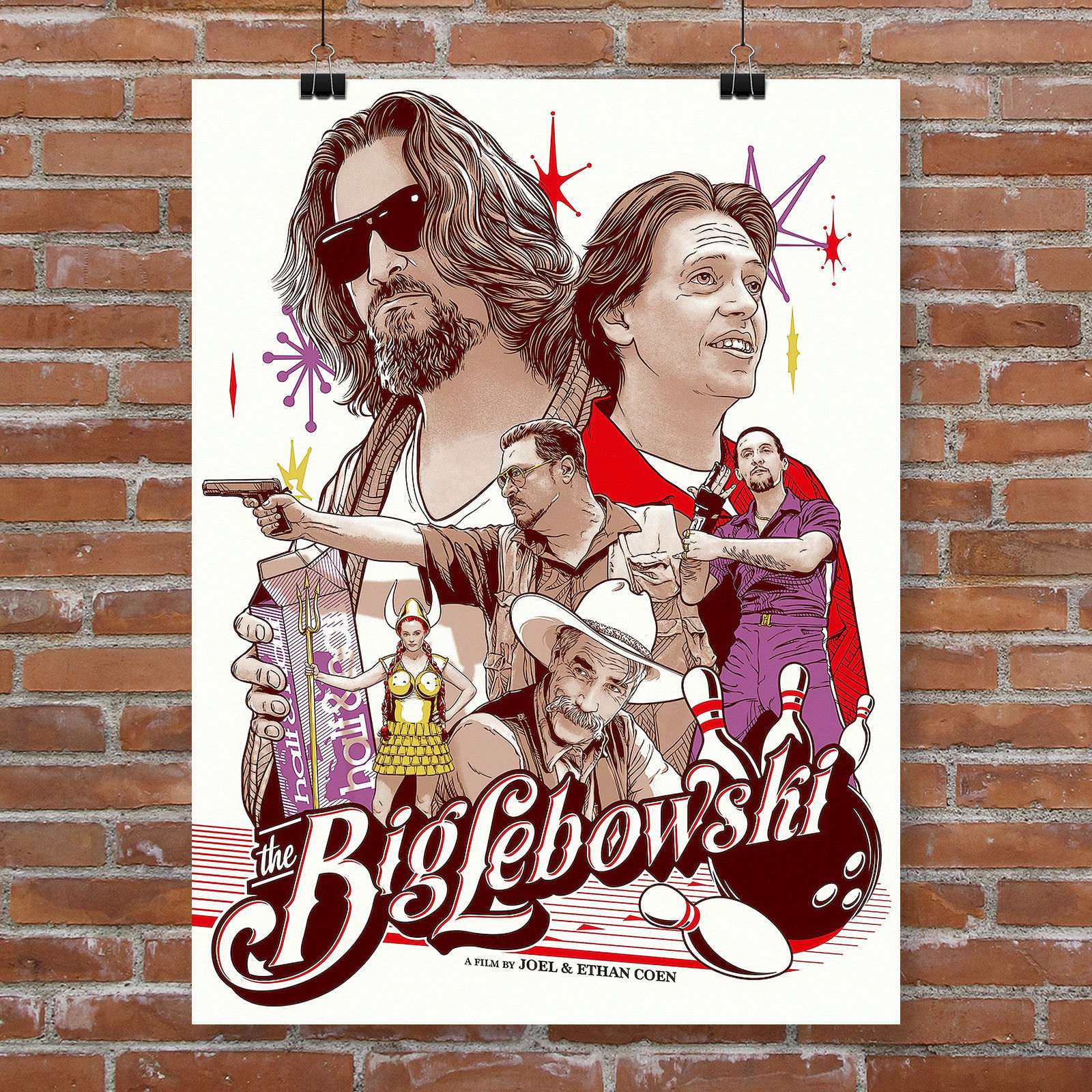 A1 A4 available A3 The Big Lebowski Vintage Movie Poster A2