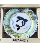 """New Artables Debra Drunner 6"""" Plate ORCA Whale Design - $29.69"""