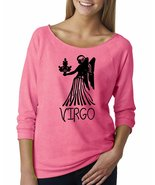 Virgo Zodiac Signs Birthday Off The Shoulder French Terry Top - $20.95+