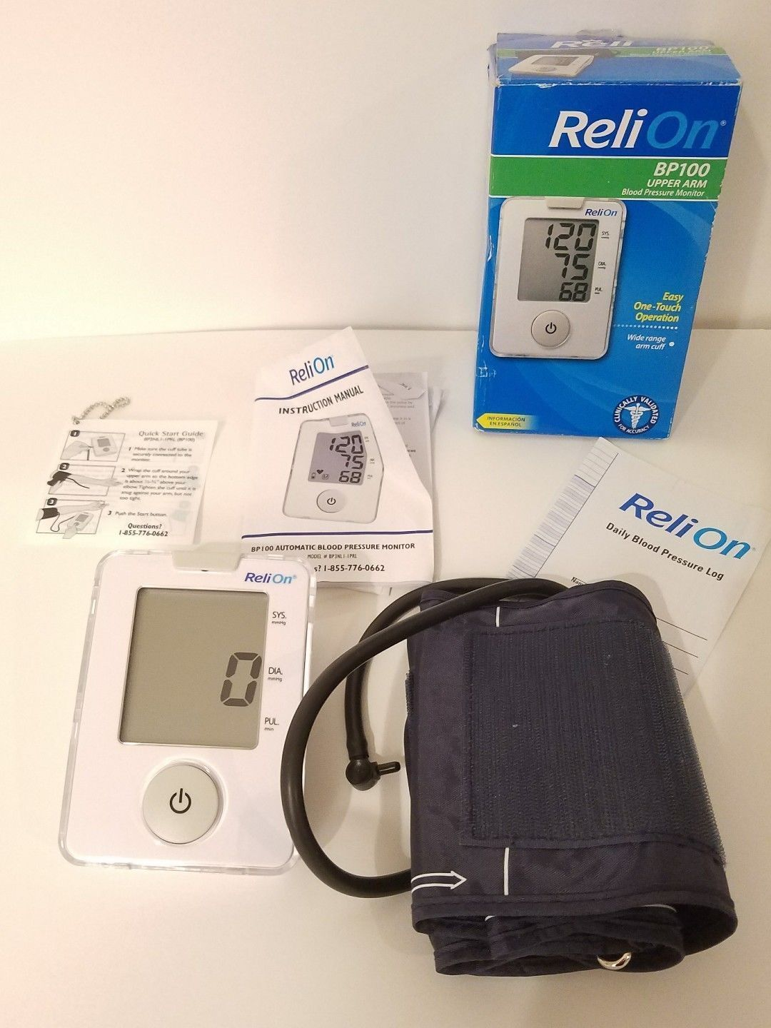 Relion Bp100 Upper Arm Blood Pressure And 50 Similar Items