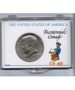 John F Kennedy 1976 Half Dollar in Bicentennial Coinage case - $18.58