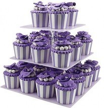 3 Tier Cupcake Stand, Tiered Acrylic Cupcake Stand For Birthday Parties,... - $37.92