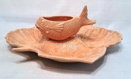 Majolica Fish and Shells, Serving Platter, Vint... - $31.95