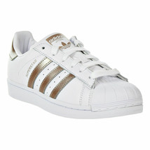 ADIDAS Women's Superstar Shoes White-Cyber Metallic CG5463 sz 10 - $49.97