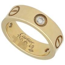 CARTIER LOVE RING B4032400 US5 Yellow Gold Half Diamond Used Very good - $1,623.60