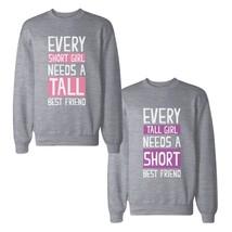 Every Tall And Short BF BFF Sweatshirts Cute Matching Sweat Shirts - $40.99+
