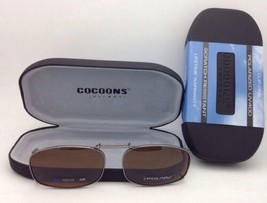COCOONS Amber Polarized Sunglasses/Eyeglasses Over Rx Clip-on REC 5-48 Gunmetal