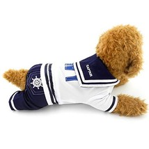 PEGASUS SELMAI Navy Sailor Captain Costume Four Legged Dog Jumpsuits Sma... - $22.78