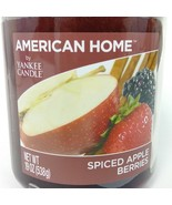 Yankee Candle Spiced Apple Berries 19 oz Large Candle Maroon American Home Jar - $23.62